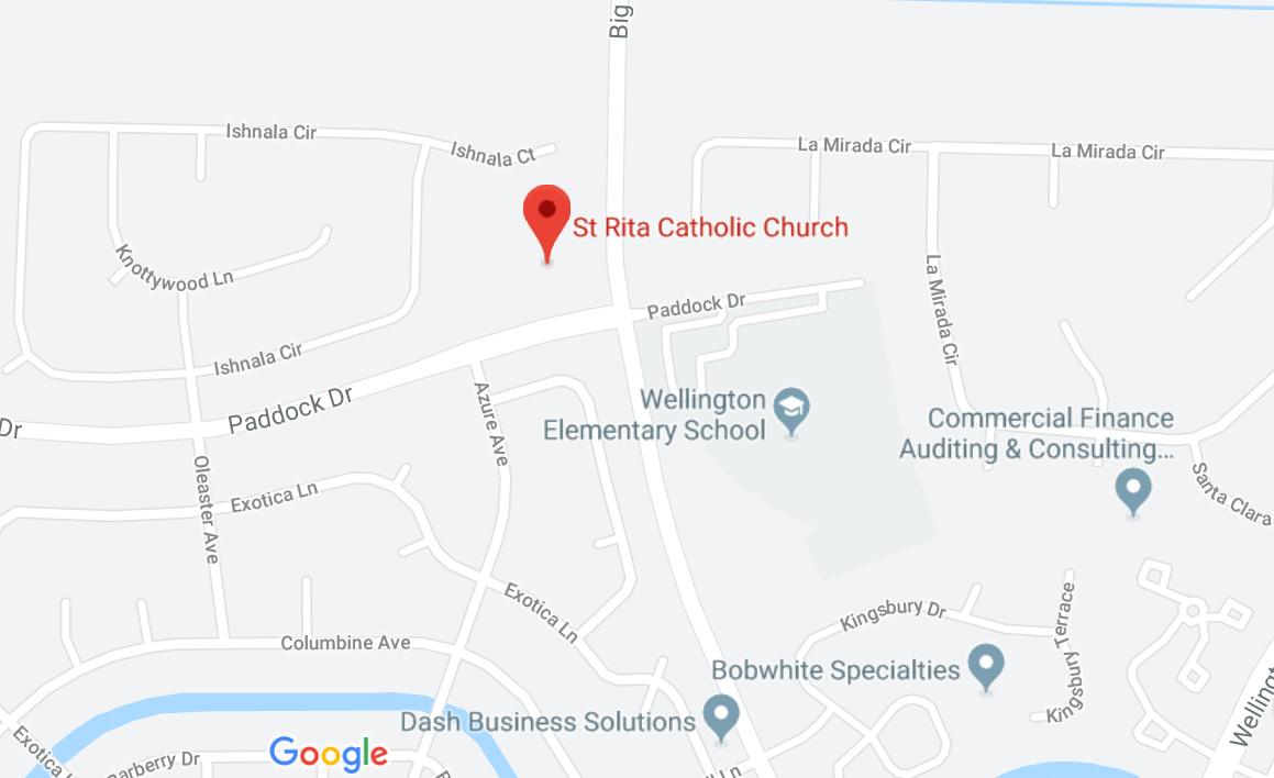 Google Map for Saint Rita